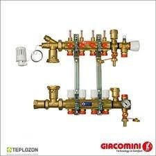 Коллектор Giacomini в зборці з розходомірами 5 отвод - 1