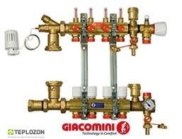Коллектор Giacomini в зборці з розходомірами 9 отвод - 2