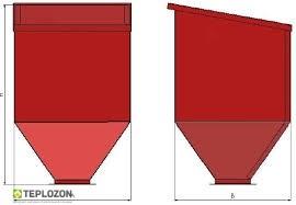 Бункер на 260 кг. 0,4 м3          575/1280/1000 - 1