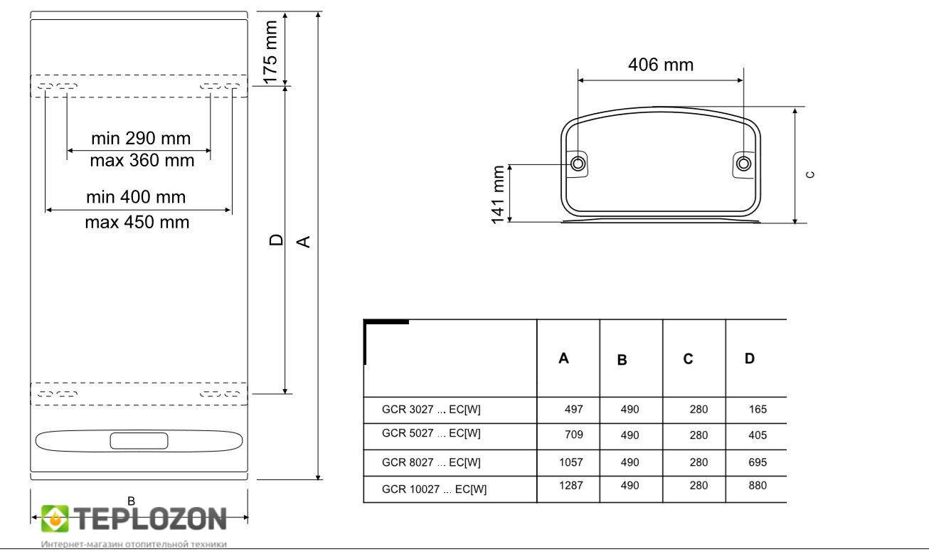 TESY GCR 802722 E31 EC бойлер электрический - 3