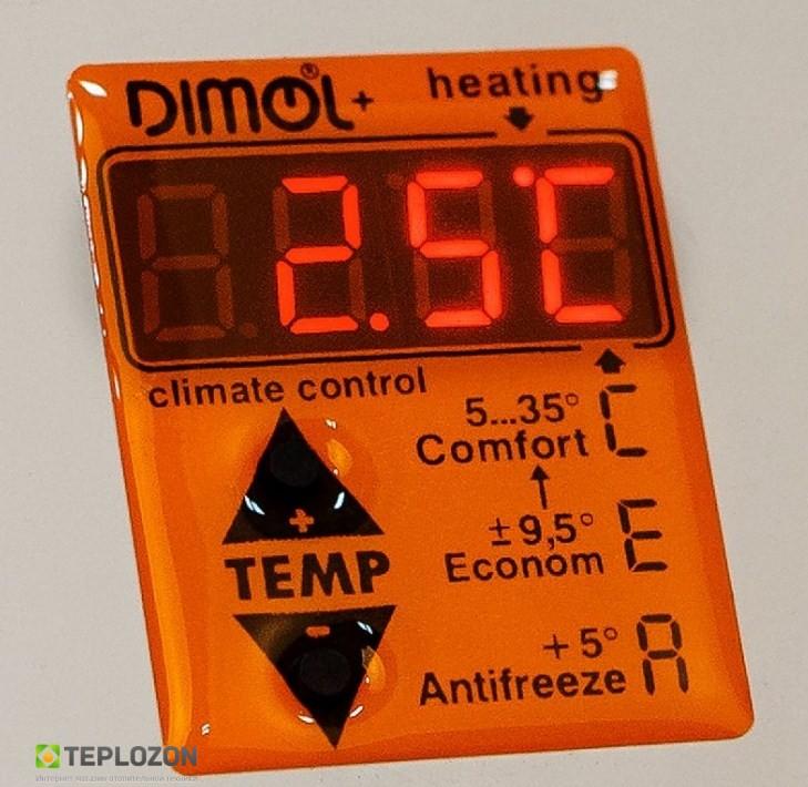 Керамический полотенцесушитель DIMOL Standart 07 (графитовый) с программатором - 2
