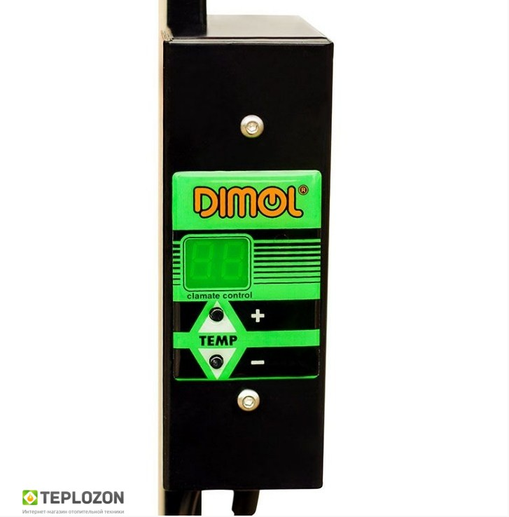 Керамический полотенцесушитель DIMOL Maxi 07 (белый) с регулятором - 1