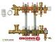 Коллектор Giacomini в зборці з розходомірами 11 отвод - 2