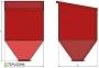 Бункер на 1500 кг. 2,35м3       1330/2300/1330 - 1